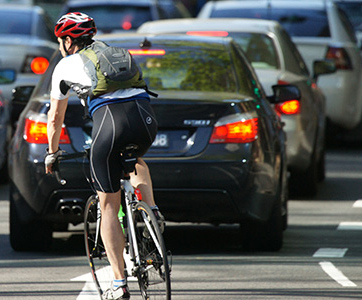 Drivers need to watch for cyclists in traffic.