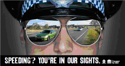 Speeding? You're in our sights.