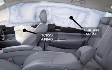 Curtain airbag and torso airbag. Picture supplied by Toyota Motor Corporation Australia.